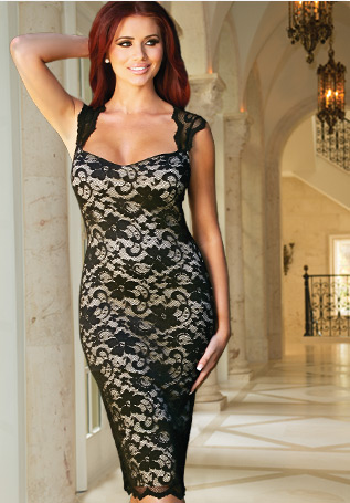 Amy Childs Millie Sweetheart Neckline Dress