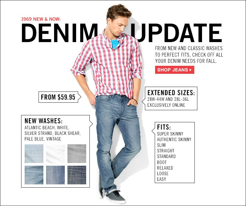 1969 NEW & NOW: DENIM UPDATE | SHOP JEANS