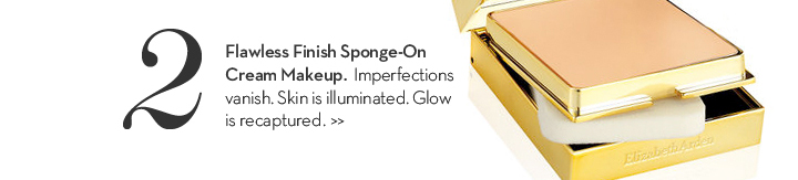 2. Flawless Finish Sponge-On Cream Makeup. Imperfections vanish. Skin is illuminated. Glow is recaptured.