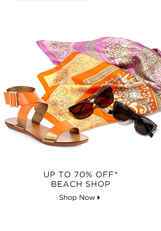 Up To 70% Off* Beach Shop
