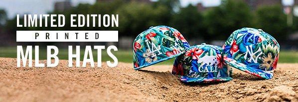 Shop LIMITED EDITION: Printed MLB Hats