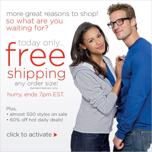 FREE Shipping on ANY Order Size