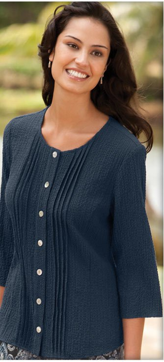 21st century performance fabrics meet classic comfort in our perfectly packable, lightweight, easy-care Scrunch Cloth designs.