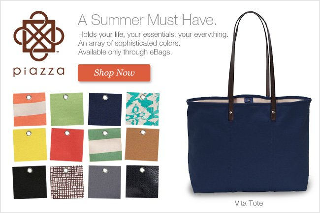 A Summer Must Have. Piazza Vita Tote. Shop Now