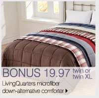 BONUS 19.97 twin or twin XL LivingQuarters microfiber down-alternative comforter