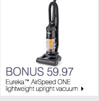 BONUS 59.97 Eureka™ AirSpeed ONE lightweight upright vacuum