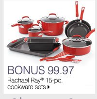 BONUS 99.97 Rachael Ray® 15-pc. cookware sets