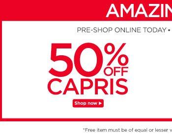50% Off Capris