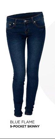 Blue Fame Five Pocket Skinny Jeans