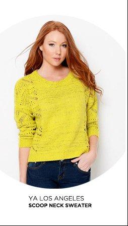 Ya Los Angeles Scoop Neck Sweater