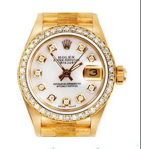 Rolex President 18K Gold & Diamond Pave Watch