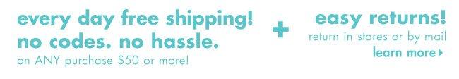 free shipping easy returns!