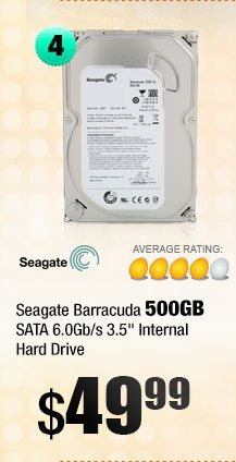 "Seagate Barracuda 500GB SATA 6.0Gb/s 3.5"" Internal Hard Drive"
