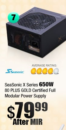 SeaSonic X Series 650W Ready 80 PLUS GOLD Certified Full Modular Power Supply