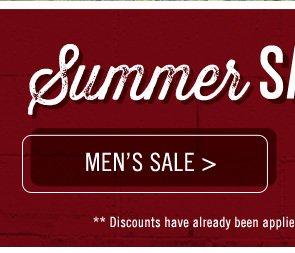 Shop Men's Summer Sale