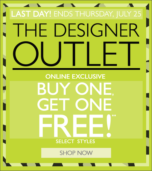 Buy One Get One Free at the Outlet!