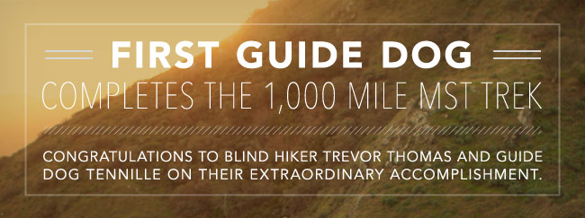 First guide dogcompletes the 1,000 mile MST Trek