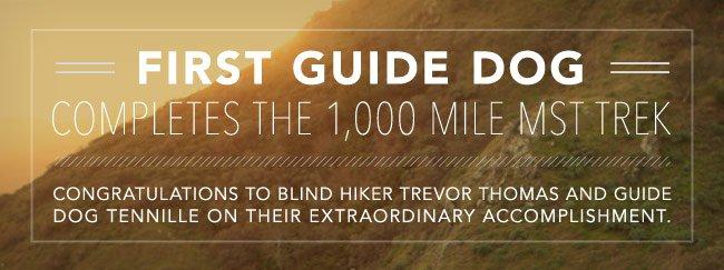 First guide dogcompletes the 1,000 mile MST Trek