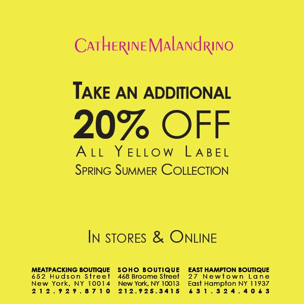 Additional 20% Off Spring Summer