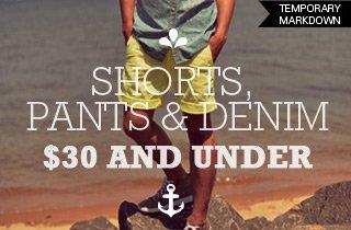 Shorts, Pants, & Denim $30 & Under