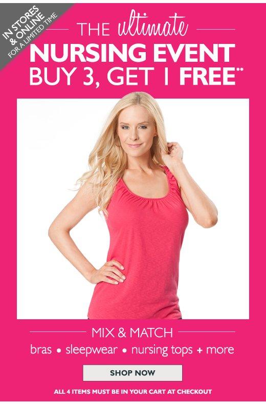Nursing Event - Buy 3 Get 1 Free