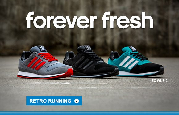 forever fresh. ZX WLB2. RETRO RUNNING »