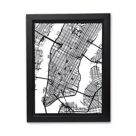 New York City Cut Map