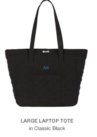 Large Laptop Tote in Classic Black