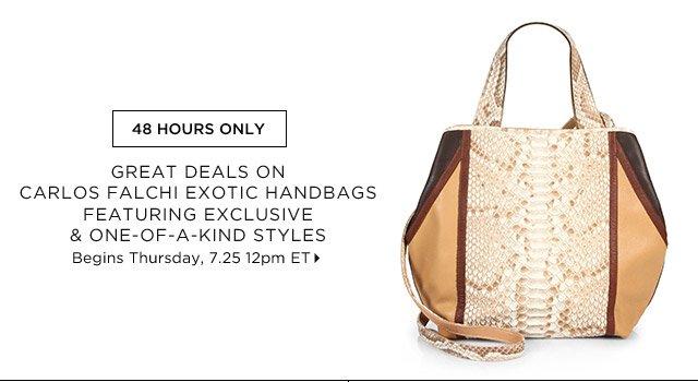 Carlos Falchi Exotic Handbags...Shop Now