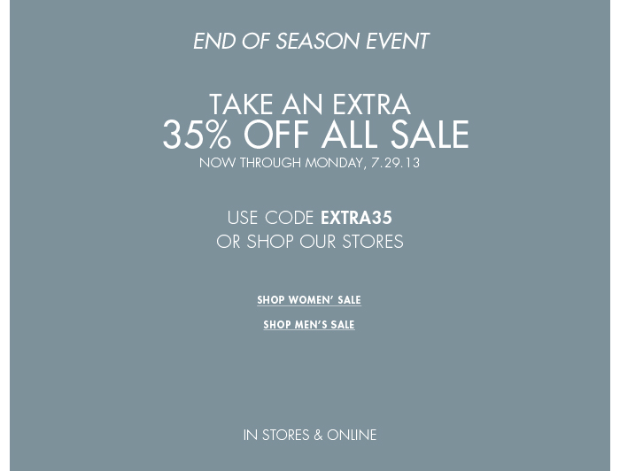 Save 35% Off All Sale