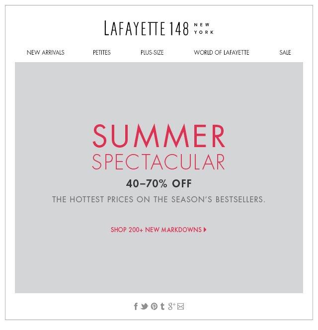 Summer Spectacular! 200+ New Markdowns