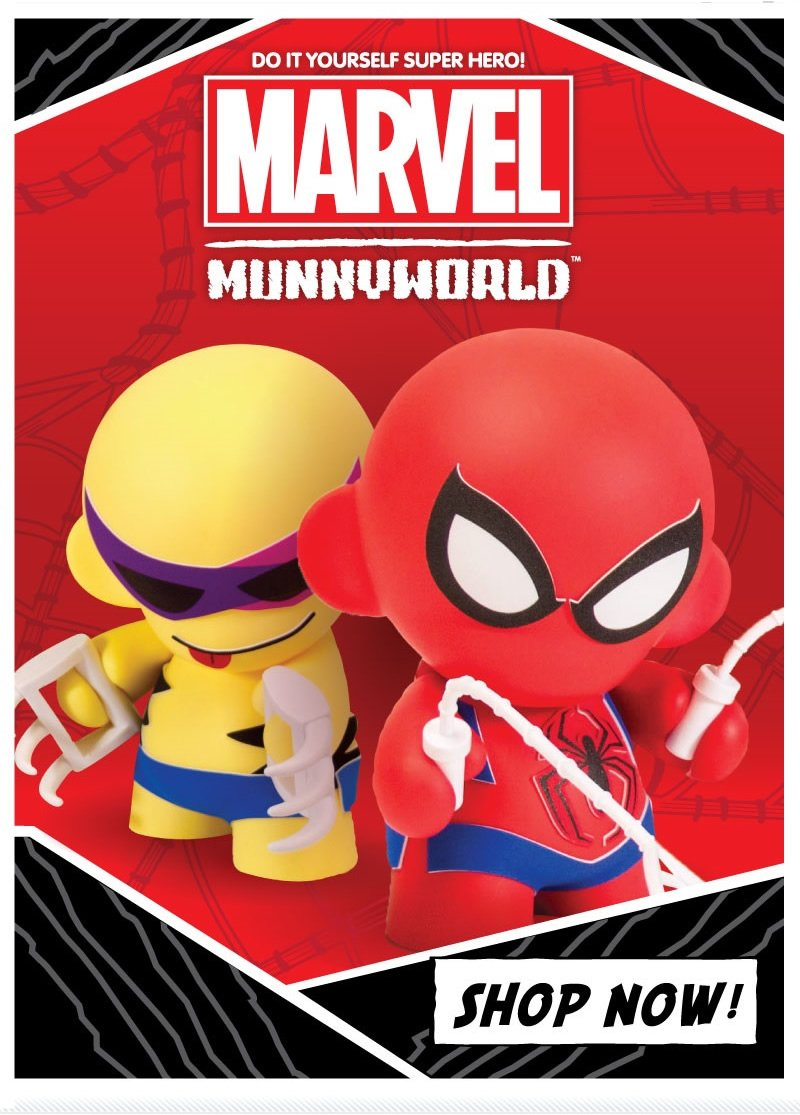 Do it yourself super hero!  Marvel Munnyworld.   shop now!