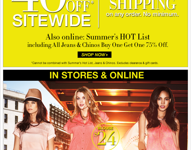Summer Steals + FREE SHIPPING! Shop Now!