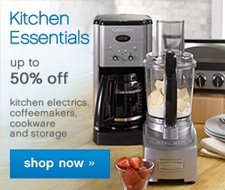 Kitchen Essentials up to 50% off. Shop now.