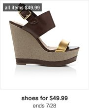 shoes for 49.99 ends 7/28