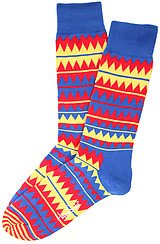 The Zig Zag Socks in Blue Multi