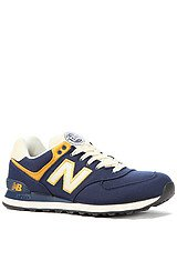 The Rugby 574 Sneaker in Navy & Yellow