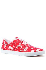 The Sutter Sneaker in Red Hawaiian