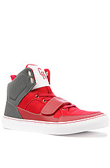The Cota Sneaker in Red & Smoke
