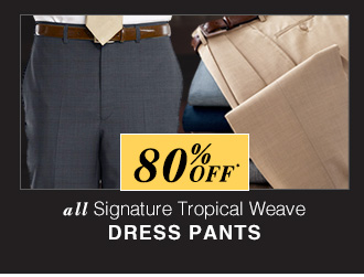 80% OFF* - Signature Tropical Weave Dress Pants