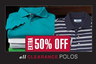 Extra 50% OFF - Clearance Polos