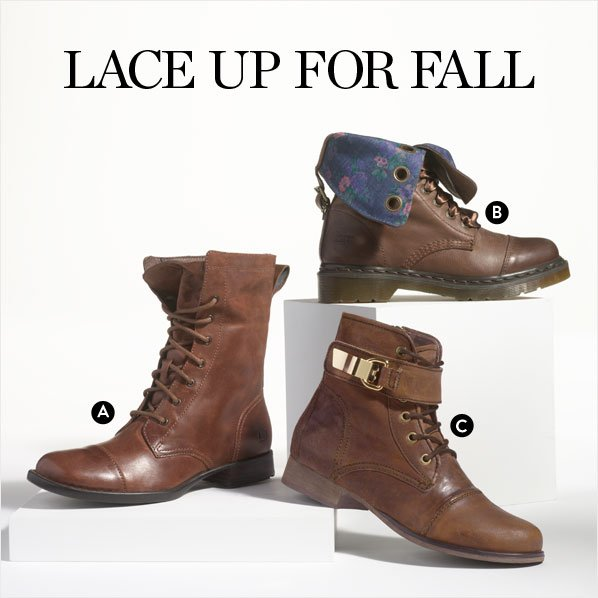LACE UP FOR FALL