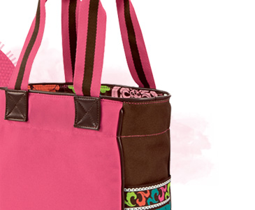 Large Colorblock Tote in Lola
