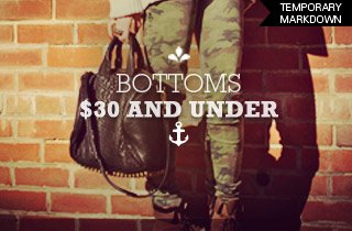 Bottoms $30 & Under