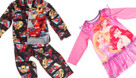 Favorite PJ's featuring Cars, Princesses and more
