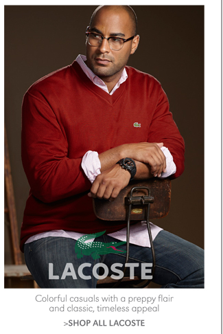 COLORFUL CASUALS WITH A PREPPY FLAIR AND CLASSIC, TIMELESS APPEAL | SHOP ALL LACOSTE