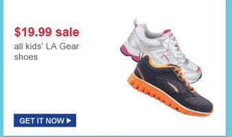 $19.99 sale | all kids' la gear shoes | get it now