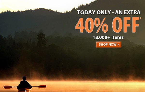 Today Only - Top Secret Sale! An Extra 40% OFF 18,000+ Items!