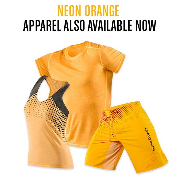 NEON ORANGE APPAREL ALSO AVAILABLE NOW