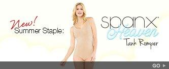 New! Summer Staple: SPANX Heaven Tank Romper. Go!